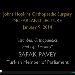 2014 McFarland Lecture with Safak Pavey at Johns Hopkins